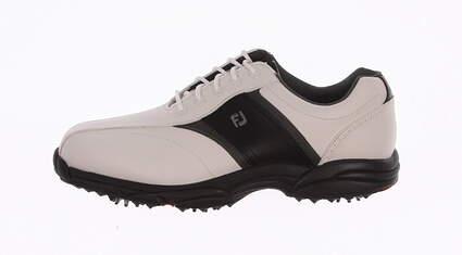 New Mens Golf Shoe Footjoy Greenjoys Wide 10.5 Black/White MSRP $120