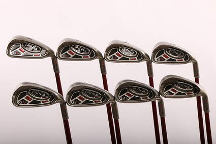 Ping G15 Iron Set 4-PW GW Ping TFC 149I Graphite Ladies Right Handed Red dot 37.25 in