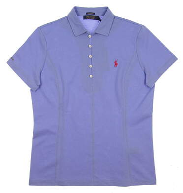 New Womens Ralph Lauren Golf Polo Large L Blue MSRP $95