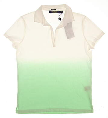 New Womens Ralph Lauren Golf Polo Medium M White MSRP $105