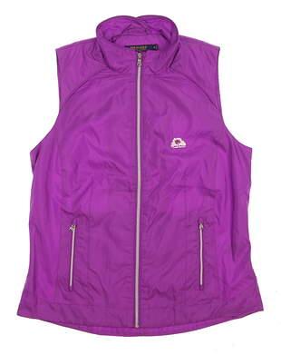 New W/ Logo Womens Ralph Lauren Golf Vest Large L Purple MSRP $167