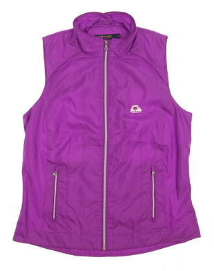 New W/ Logo Womens Ralph Lauren Golf Vest Medium M Purple MSRP $167
