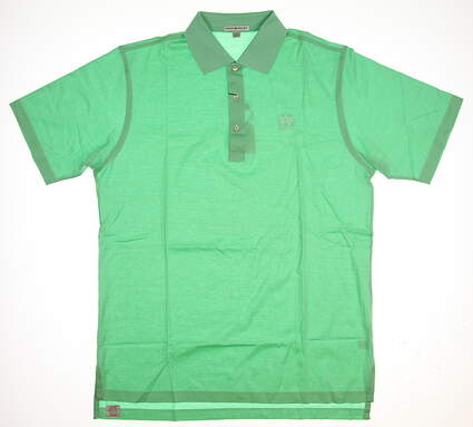 New W/ Logo Mens Peter Millar Golf Polo Large L Green MSRP $99
