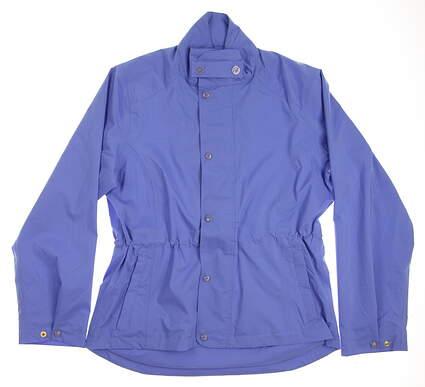 New Womens Peter Millar Golf Jacket Medium M Blue MSRP $70