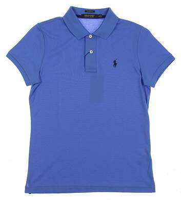 New Womens Ralph Lauren Golf Polo Medium M Blue MSRP $90