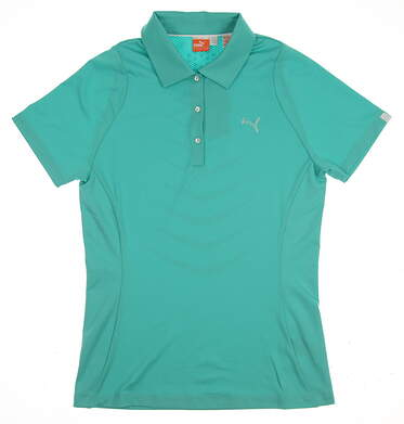 New Womens Puma Golf Polo Small S Green MSRP $50