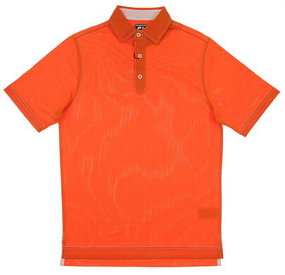 New Mens Footjoy Solid Stretch Pique Golf Polo Small S Orange MSRP $65 20480