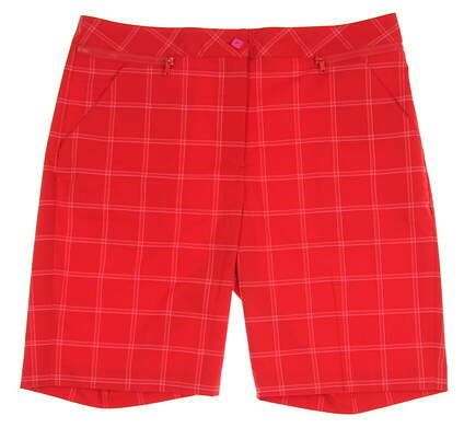New Womens EP Pro Red Hots Golf Shorts Size 12 Red (Flame Multi) MSRP $88