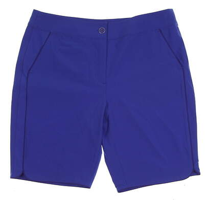 New Womens EP Pro Sugar Rush Golf Shorts Size 10 Blue Crush MSRP $88