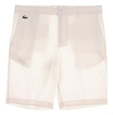New Mens Lacoste Golf Shorts Size 34 White MSRP $98