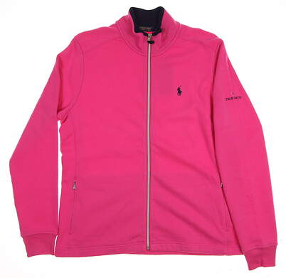 New W/ Logo Womens Ralph Lauren Golf Full Zip Fleece X-Large XL Pink MSRP $135