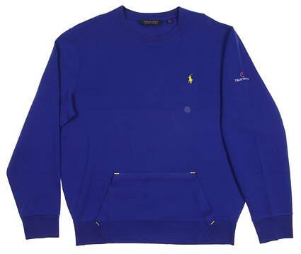 New W/ Logo Mens Ralph Lauren Sweatshirt Large L Blue MSRP $115