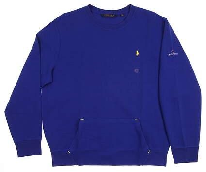New W/ Logo Mens Ralph Lauren Sweatshirt X-Large XL Blue MSRP $115