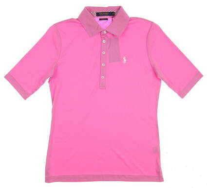 New Womens Ralph Lauren Golf Polo Medium M Pink MSRP $63