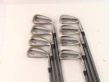 Ping 2015 i Iron Set 4-PW GW CFS 70 Graphite Graphite Regular Right Handed Blue Dot 38.25 in