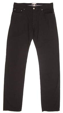 New Mens Peter Millar Mountainside Collection Pants Size 34 Black MSRP $145
