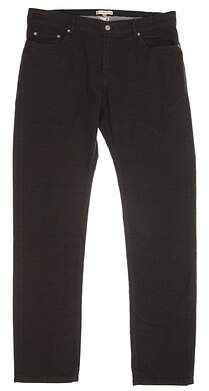 New Mens Peter Millar Mountainside Collection Pants Size 35 Black MSRP $145