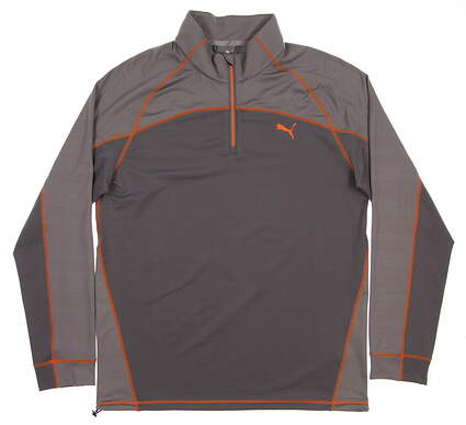 New 2017 Mens Puma Embossed 1/4 Zip Golf Pullover Medium M Gray MSRP $85