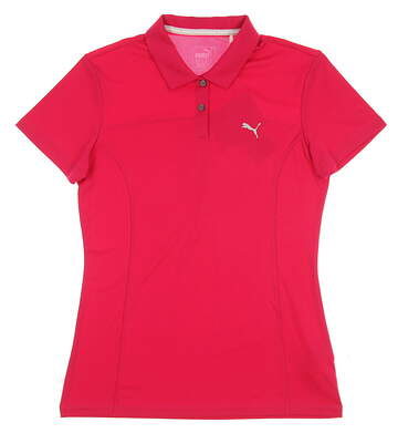 New 2017 Womens Puma Pounce Golf Polo Small S Love Potion MSRP $50