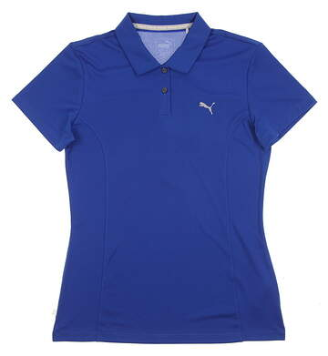 New 2017 Womens Puma Pounce Golf Polo Small S Lapis Blue MSRP $50