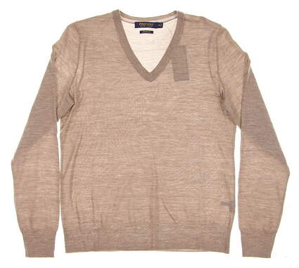 New Womens Ralph Lauren Merino Sweater Medium M Brown MSRP $145