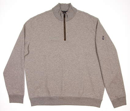 New W/ Logo Mens Ralph Lauren 1/4 Zip Golf Pullover X-Large XL Gray MSRP $100