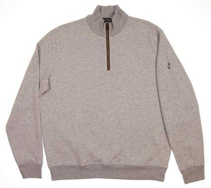 New W/ Logo Mens Ralph Lauren 1/4 Zip Golf Pullover Large L Gray MSRP $100