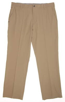New Mens Adidas Ultimate Fit Golf Pants 36x30 Khaki MSRP $80