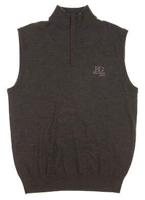 New W/ Logo Mens Ralph Lauren Golf Sweater Vest Medium M Brown MSRP $160