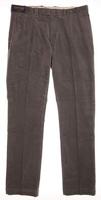 New Mens Ralph Lauren Corduroy Pants 36x34 Gray MSRP $100