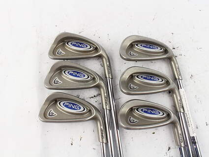 Ping i5 Iron Set 5-PW Ping Z-Z65 Steel Stiff Right Handed White Dot 38.25 in