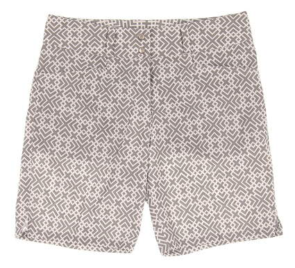 """New Womens Adidas 7"""" Printed Golf Shorts Size 0 Gray/White MSRP $75"""