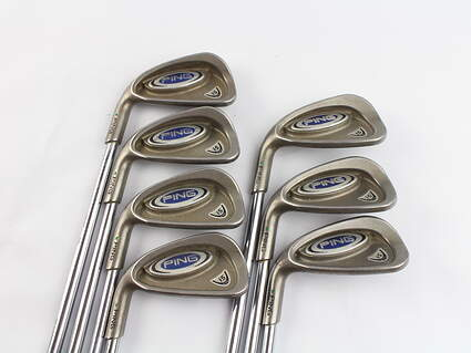 Ping i5 Iron Set 4-PW Stock Steel Shaft Steel Regular Left Handed Green Dot 38.25 in