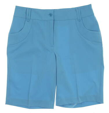 New Womens EP Pro St. John Golf Shorts Size 2 Turquoise MSRP $74