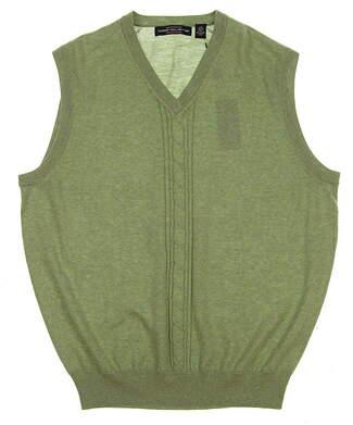 New Mens Carnoustie Golf Sweater Vest Large L Green MSRP $90