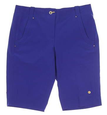 New Womens EP Pro Sport Estancia Golf Shorts Size 4 Regency Blue MSRP $92