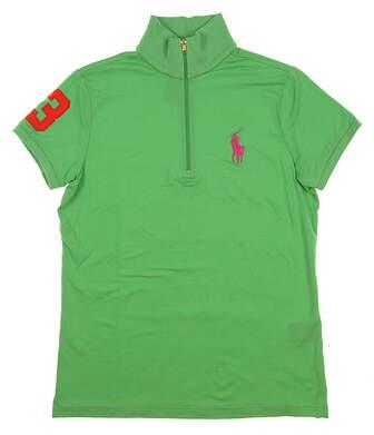 New Womens Ralph Lauren Golf Polo Medium M Green MSRP $90