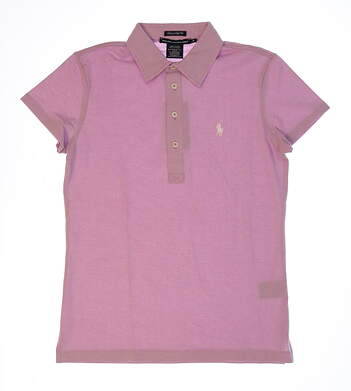 New Womens Ralph Lauren Heathered Pique Golf Polo Large L Newport Lilac MSRP $90