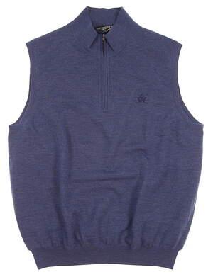 New W/ Logo Mens Fairway & Greene Golf Sweater Vest X-Large XL Blue MSRP $167