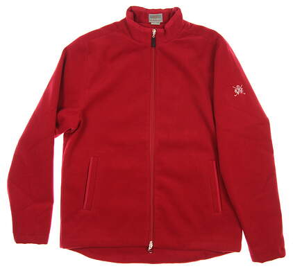 New W/ Logo Mens Fennec Golf Jacket Medium M Red MSRP $149