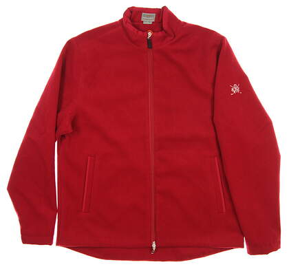 New W/ Logo Mens Fennec Golf Jacket Large L Red MSRP $149