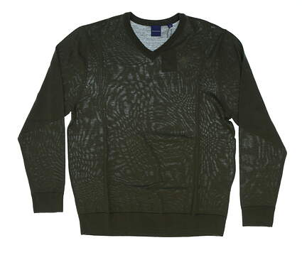 New W/ Logo Mens Dunning Golf Sweater Large L Green MSRP $124