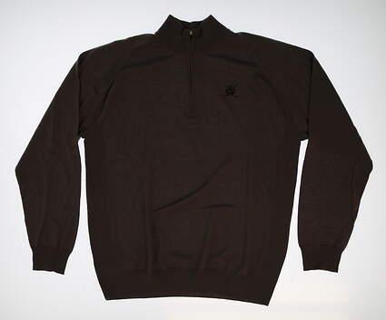 New W/ Logo Mens Dunning 1/4 Zip Golf Sweater X-Large XL Gray MSRP $134
