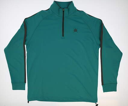 New W/ Logo Mens Dunning 1/4 Zip Golf Pullover Large L Blue MSRP $109