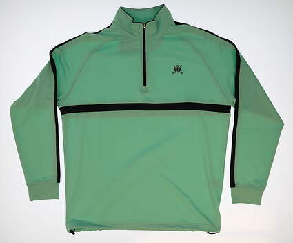 New W/ Logo Mens Dunning 1/4 Zip Golf Pullover Large L Green MSRP $109