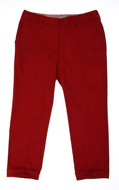 New Womens Lizzie Driver Empire Golf Capris Size 10 Red MSRP $150