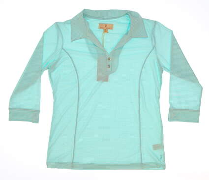 New Womens Sport Haley 3/4 Sleeve Golf Polo Small S Blue MSRP $78