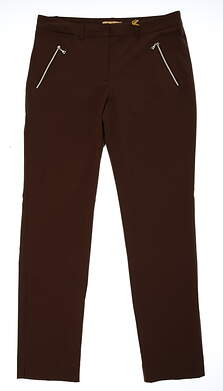 New Womens Sport Haley Golf Pants Size 8 Brown MSRP $98