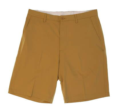 New Mens Fennec Flat Front Tech Golf Shorts Size 34 Khaki MSRP $79