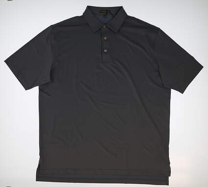 New W/ Logo Mens Peter Millar Golf Polo X-Large XL Gray MSRP $80